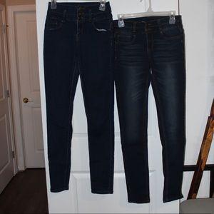 Jean lot size 27 dark skinny wash highwaisted blue